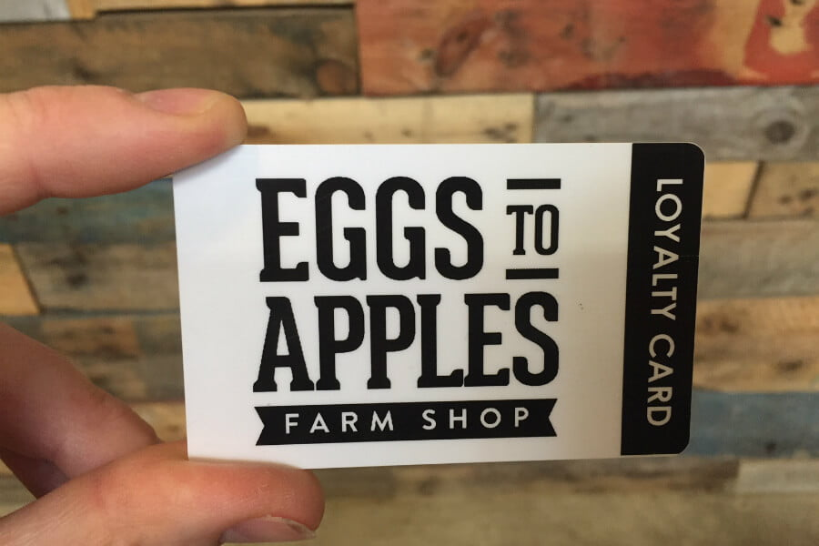 Eggs To Apples Loyalty Card
